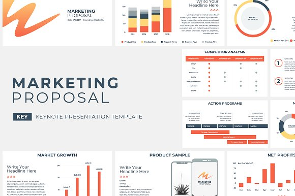 Marketing Proposal Keynote Presentation Templates Creative Market