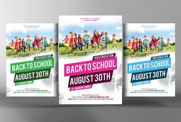 Back To School Flyer Template Flyer Templates Creative Market