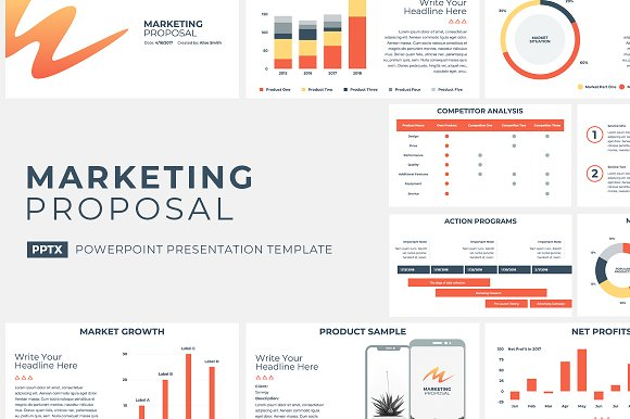 Marketing Proposal Powerpoint Presentation Templates Creative Market