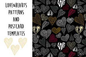 Love and Heart wedding patterns set