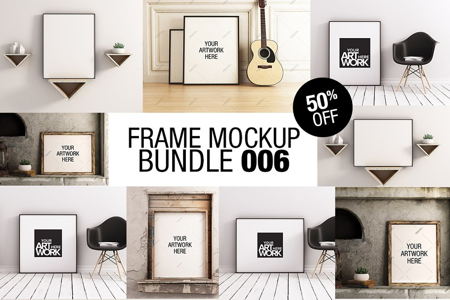 Frame Mockup Bundle 006 - 50% OFF