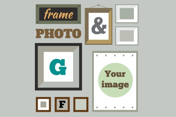 Vector set of photo frames