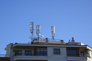 Antennas in a building