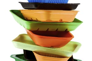 Empty Recycled Trays