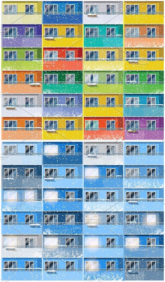 Apartments in winter mini Set