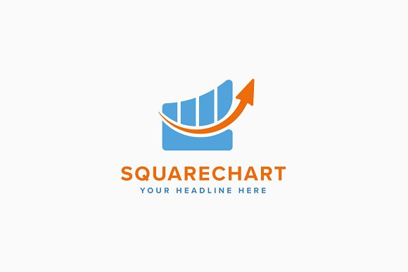 Square Chart Logo Template