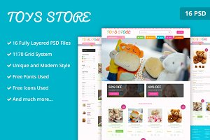 Toy Store PSD Website Template