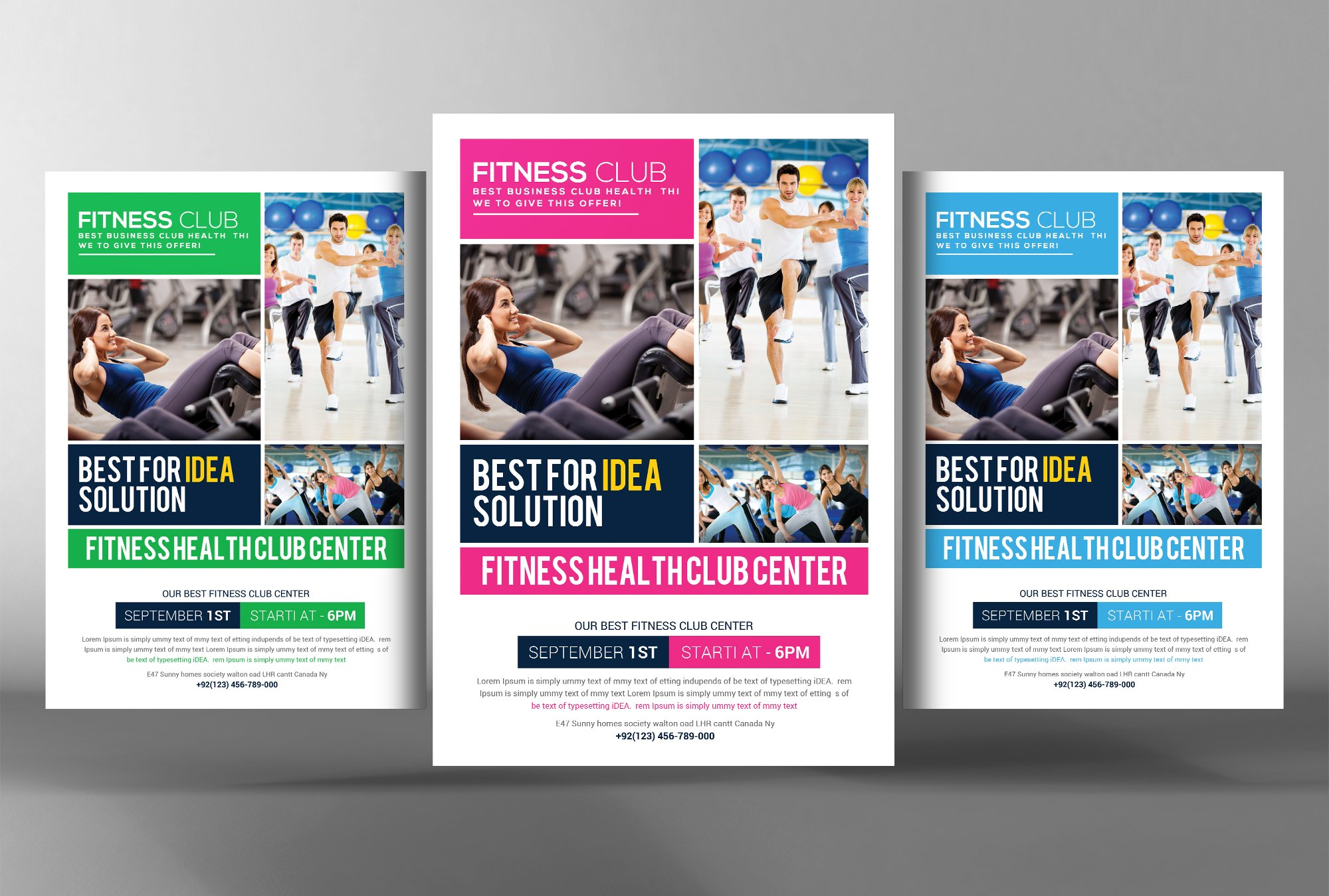 Fitness Health Club Flyer Template Flyer Templates