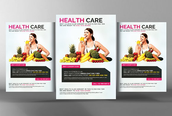 Healthy Life  Diet Flyer-Graphicriver中文最全的素材分享平台