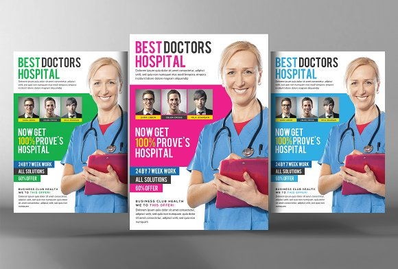 Medical Flyer Template-Graphicriver中文最全的素材分享平台