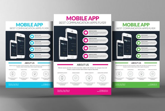 Mobile App Flyer Template-Graphicriver中文最全的素材分享平台