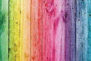 Rainbow wooden desk