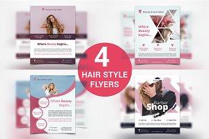 Hair Style Flyers