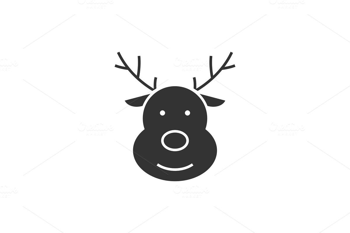Deer black icon