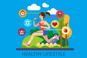 Healthy lifestyle and sport.
