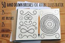 50 Adobe Illustrator vector brushes