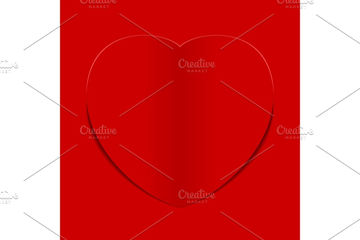 Red heart background vector illustration