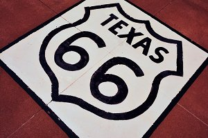 Route 66 in Texas.