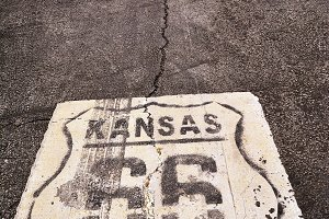 Route 66 in Kansas.