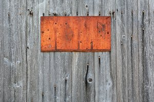 Rusty metal sign