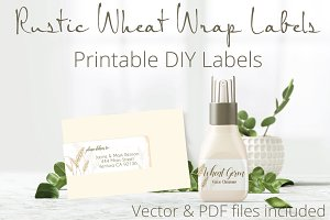 Rustic Wheat Wrap Labels