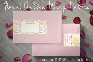 Floral Garden Wrap Address Labels