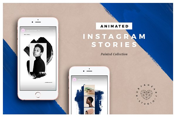 ANIMATED Painted Instagram Stories