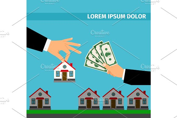 Buy house banner concept for cash
