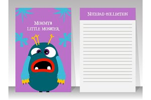 Notebook for teenagers with monster