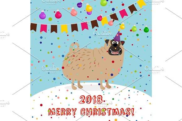 Big puppy 2018 merry christmas card