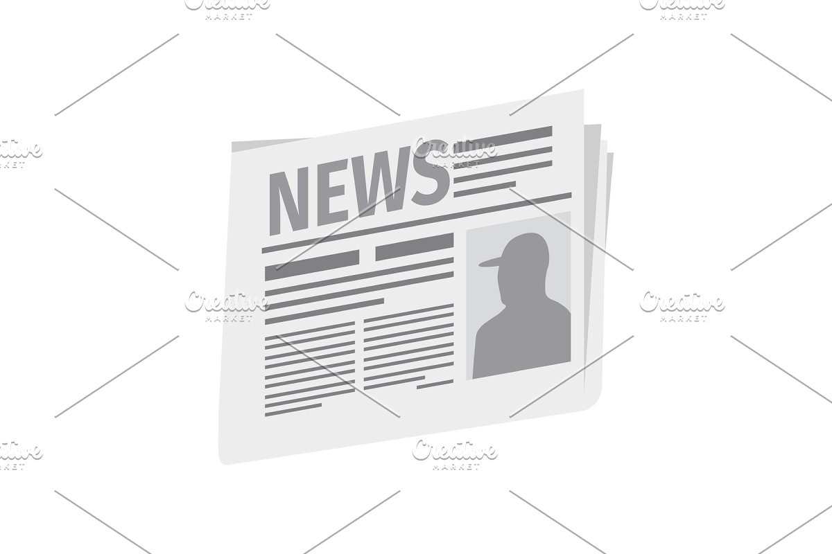 Fresh newspaper isolated on white background in Objects