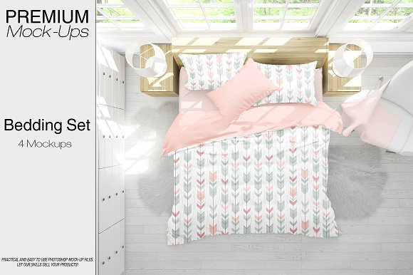 Bedding Mockup Set-Graphicriver中文最全的素材分享平台