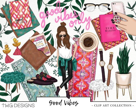 Planner Trendy Girl Fashion Clip Art