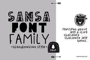 Sansa font family-8font-Scandinavian