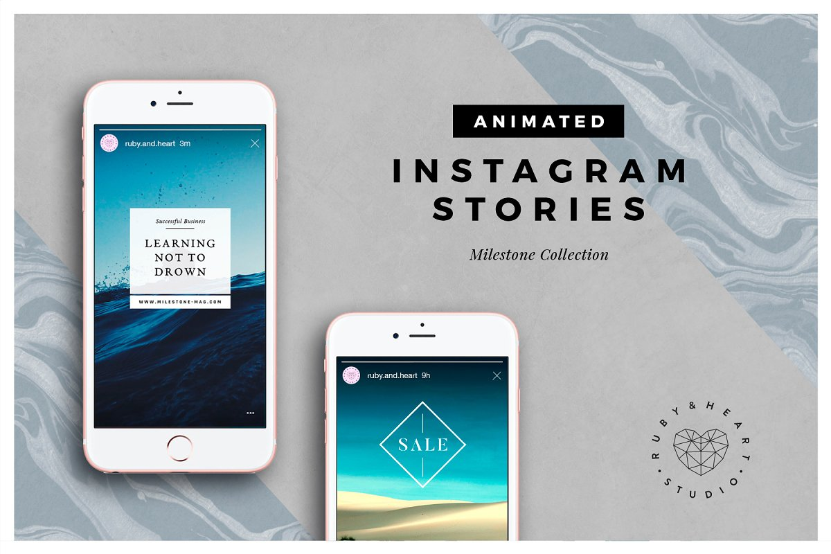 ANIMATED Milestone Instagram Stories ~ Instagram Templates