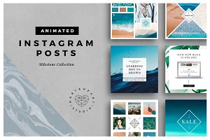 ANIMATED Milestone Instagram Posts