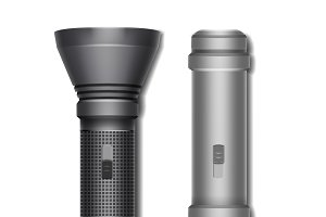 Set of two flashlights