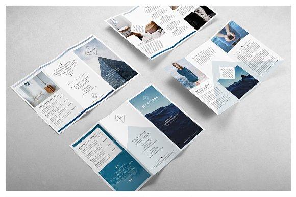 milestone trifold brochure brochure templates creative market