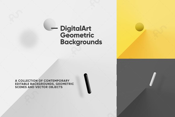 Digital-Art Geometric Backg-Graphicriver中文最全的素材分享平台