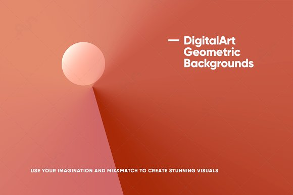 Digital-Art Geometric Backgrounds in Patterns - product preview 1