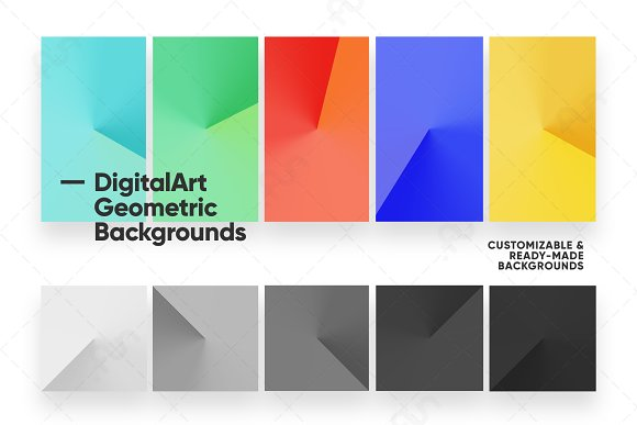 Digital-Art Geometric Backgrounds in Patterns - product preview 2