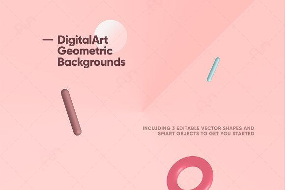 Digital-Art Geometric Backgrounds in Patterns - product preview 3
