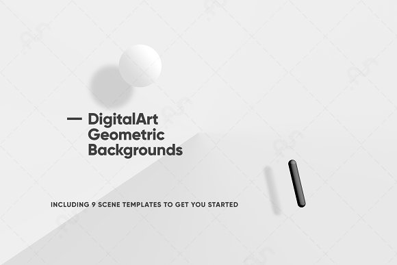 Digital-Art Geometric Backgrounds in Patterns - product preview 4
