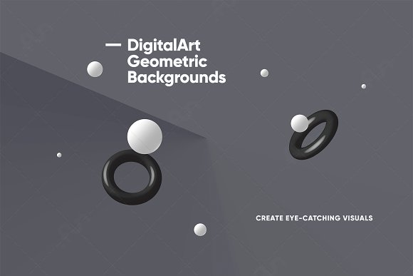 Digital-Art Geometric Backgrounds in Patterns - product preview 5