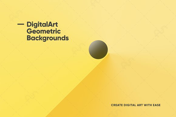 Digital-Art Geometric Backgrounds in Patterns - product preview 6