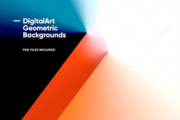 Digital-Art Geometric Backgrounds in Patterns - product preview 7