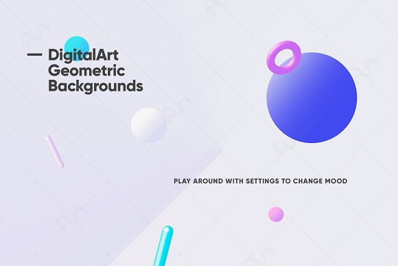 Digital-Art Geometric Backgrounds in Patterns - product preview 8