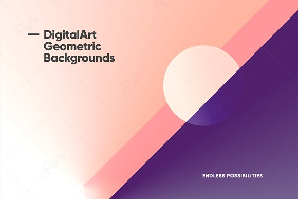 Digital-Art Geometric Backgrounds in Patterns - product preview 9