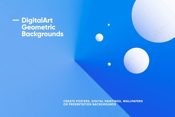 Digital-Art Geometric Backgrounds in Patterns - product preview 10