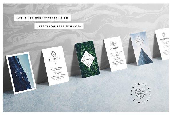 Business Card Templates: Ruby&Heart Studio - MILESTONE Business Cards
